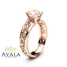 morganite engagement ring gold 1 5ct morganite engagement ring 14k gold morganite ring