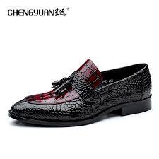 wedding shoes for men genuine leather flat wedding shoes mens wine black brogue