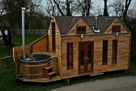 tiny house building plans tinywood home on trailer with outdoor hot tub built in home