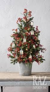 real mini christmas tree with lights farmhouse christmas pinteres