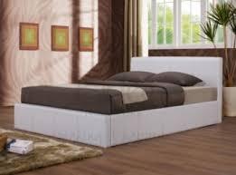 Ottoman White Bed Birlea Berlin Ottoman 4ft Small White Faux Leather Bed