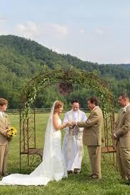 wedding arch leaves green yellow rustic farm wedding in carolina inside weddings