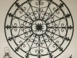 Breathtaking Large Wrought Iron Wall Decor Round Wrought Iron Wall Decor Shenra Com