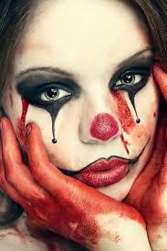 cute clown halloween makeup look daisie smith bloody clown
