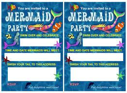 blue sea mermaid party invitation rooftop post printables