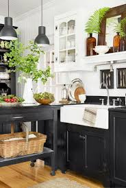 kitchen with black island and white cabinets 11 black kitchen cabinet ideas for 2020 black kitchen