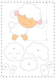 download de moldes lindos de ovelhas em feltro moldes