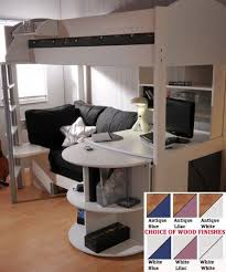 Diy Bunk Bed With Desk Under by Loft Beds For College Students College Loft Bed With Desk