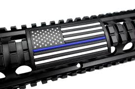 Thin Blue Line Flag American Flag Blue Line Stars Left Large Grip Pvc