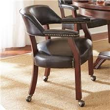 Dining Room Chairs With Arms And Casters Dining Chair With Casters Akron Cleveland Canton Medina