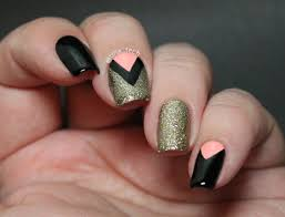 pictorial chevron nail art tina tech