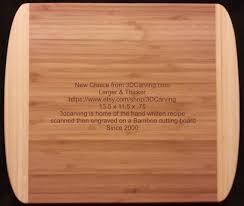 cutting board with recipe engraved new size recipe scanned from s or s