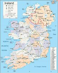 Europe Cities Map by Ireland Map With Cities Full Size Map Of Ireland Showing