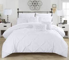 Ruffled Bed Set Chic Home 10 Comforter Set Ruffled Bed In Bag White