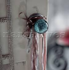 coloured glass door knobs el0205 ribbons hanging on a coloured glass door kno narratives