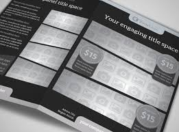lavish electric store a4 bi fold brochure template blank bi fold brochure template