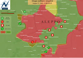 Aleppo Syria Map by Map Military Situation In Aleppo City Syria 17 8 16