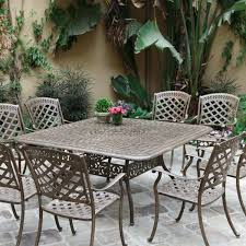 Cast Aluminium Garden Table And Chairs Metal Patio Set Home Design