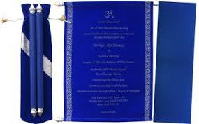 indian wedding scroll invitations blue velvet card for your indian wedding scroll wedding