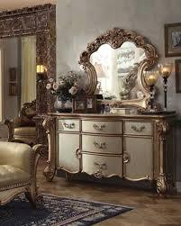 gold dresser dresser w mirror vendome gold by acme furniture ac23005dm