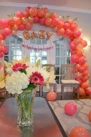 coral baby shower diy ready to pop baby shower balloon arch pink coral pearl
