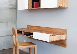 Desk Used Wood Desks For Sale Build A Wood Plank Desktop For by 17 Wall Mounted Desks To Make The Most Of Your Small Space Brit Co