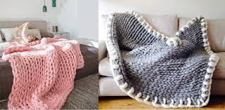 plaid sur canapé un plaid en grosse maille pour votre canapé i maisons et jardins