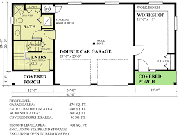 carriage house plan with workshop 9825sw architectural designs