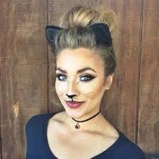 23 pretty and easy halloween makeup looks cat halloween makeup