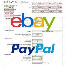 Ebay Spreadsheet Ebay Paypal Fees Calculator Simple Fee Calc Excel Spreadsheet