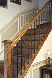 wood stair railing staircase wooden railings outdoor home depot