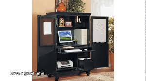 Computer Hutch Desk With Doors Furniture Magic Computer Armoire For Home Office Ideas