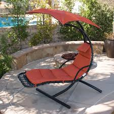 Hanging Patio Swing Chair Hanging Chaise Lounger Chair Arc Stand Air Porch Swing Hammock