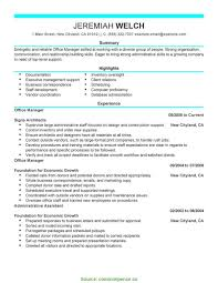 summary exle for resume interesting office manager summary exles resume template office
