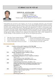Qa Project Manager Resume Edwin Cv For Qa Qc Manager