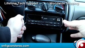 radio removal contour ford 1995 2000 youtube