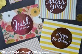 diy foil cards w free printable
