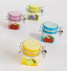 barattoli portaspezie barattolini ermetici porta spezie con decorazione con frutti vari