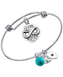 bangle bracelet charms images Unwritten friends forever charm and turquoise 8mm bangle tif