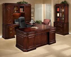 furniture cherry finished wooden work station decor with lighted