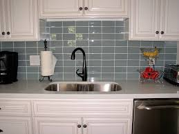 Kitchens With Subway Tile Backsplash Subway Tile Backsplash Installation Wooden Stool On The Grey Tile