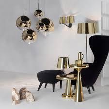 mirror ball gold pendant light by tom dixon