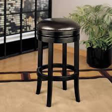 Leather Swivel Bar Stool White Stained Wooden Swivel Bar Stool With Turned Legs And Round