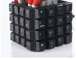 Nerdy Desk Accessories Upcycled Desk Accessories Keyboard Pencil Cup