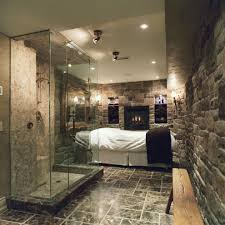massageroom massage room ideas home gym traditional with walk in stone shower