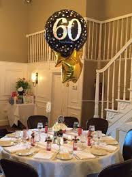 60th Birthday Party Centerpiece In Black And Gold Pinteres