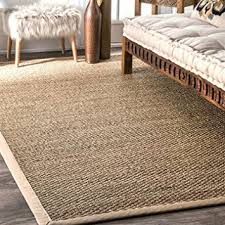 Area Rugs Beige Nuloom Elijah Seagrass With Border Area Rug Beige 5