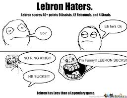 Lebron Hater Memes - lebron haters by mccrackerhonky meme center