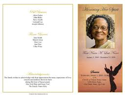 funeral programs exles funeral programs 4 page graduated beloved angel