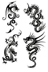 twin dragon tribal tattoo designs dragon designs pinterest